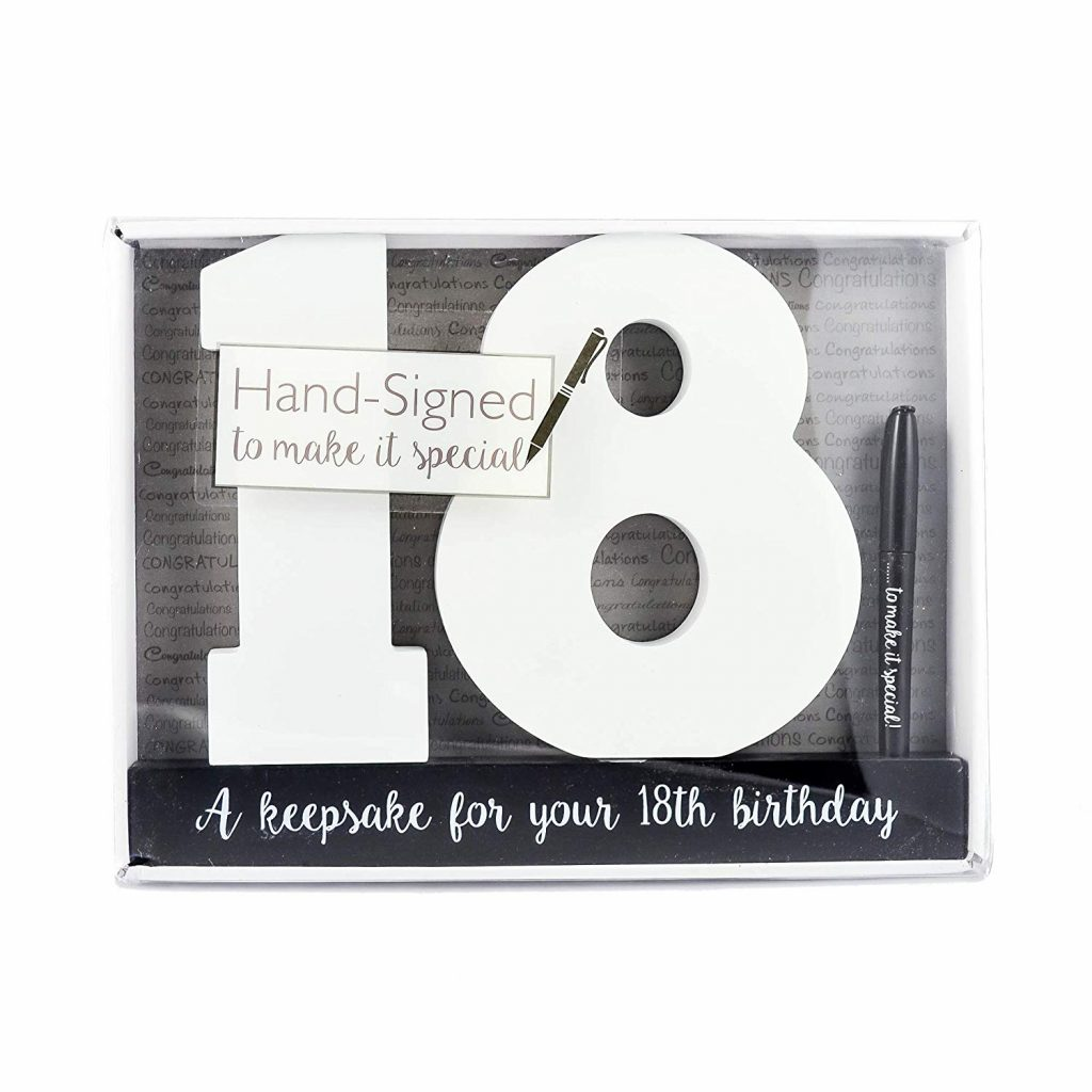 Let everyone special in her life sign these numbers and gift it to her. As a sentimental piece this will be of great value to her and also make a keepsake ...  sc 1 st  Grafomap & Awesome 18th Birthday Gift Ideas That Will Make Everyone Happy